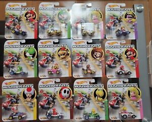 Hot Wheels 1:64 Mario Kart 12 Car Lot, Hard to Find
