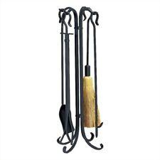 Pemberly Row 5 Piece Black Heavy Weight Rustic Fireset