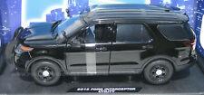 Motormax 1/18 '15 Ford PI Utility Explorer Police SUV Blank Black Slicktop 73543