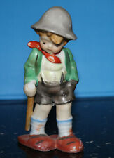 Vintage Occupied Japan boy figurine with walking stick backpack