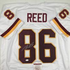 5252cbdc6facb Autografiado firmado Jordan Reed Washington JSA cert. de autenticidad Auto  Blanco Camiseta De Fútbol