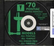 PONTIAC 1970 Bonneville, Catalina, GTO, Tempest, Fire Bird Shop & Body Manual CD