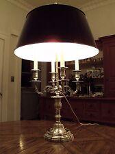 French Louis XV Silverplated Bronze Bouillotte Lamp/Decoules Paris-Maison Bagues