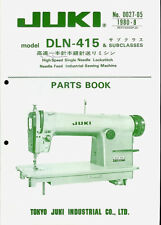 Juki DLN-415 Industrial Sewing Machine Factory Illustrated Parts List Manual