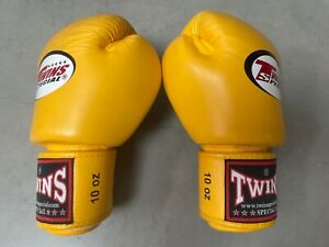 Twins. Boxing gloves. Size 10oz. Yellow. Great condition.
