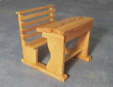 1:12 Pine Finish Wood School Desk Dolls House Miniature School Accessory 222