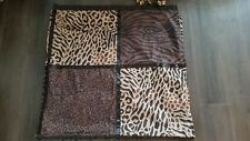 Better Homes & Gardens Fabric Shower Curtain Animal Safari Leopard with 12 Hooks
