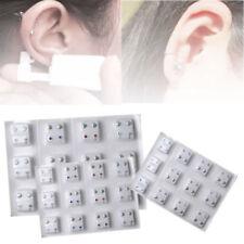 24Pcs Steel Crystal Surgical Piercing Ear Stud Earrings for Piercing Gun Tool