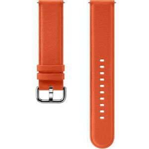 Official Samsung Galaxy Watch Active 1 & 2 40mm 44mm Leather Band Strap - Orange