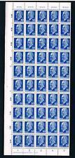 DDR, 937bXx I, II, postfrsich mit Druckverm., **DV im kpl. Bogen Typenpaare