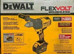 NEW DEWALT DCD130T1 60V MAX CORDLESS Mixer Drill TOOL w/ E-Clutch System Kit New