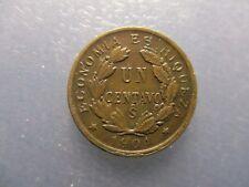 CHILE SANTIAGO UN CENTAVO 1904 BONITO