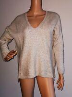 Massimo Dutti Damen Pullover V-Neck Gr. S 50% Wolle   #LRZ1104