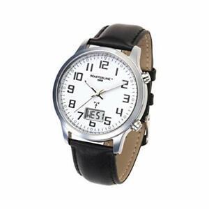 Masterline1966 Funk-Uhr Analog-Digital mit Leder-Armband ML06228015