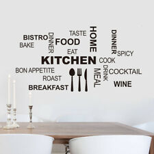 Kitchen Home Dinner Food Wine Wall Sticker Decals Wall Decor Mural Decor Vinyl