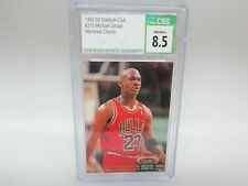 1992-93 Stadium Club MEMBERS CHOICE Michael Jordan #210 CSG 8.5 NM/MT+