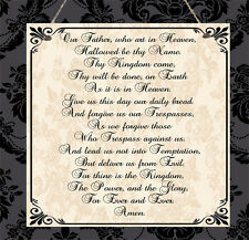 Lord's Prayer Plaque Psalm 23 Religious Christian New Home Wedding Present Gift