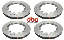 DBA FRONT & REAR DRILLED & SLOTTED BRAKE ROTORS FOR 2009 - 2011 NISSAN GT-R R35