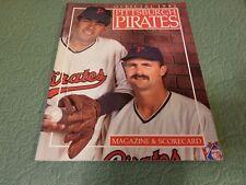 PITTSBURGH PIRATES  Cincinnati Reds OFFICIAL MAGAZINE & SCORECARD 1992
