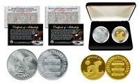 Apollo 11 50th Anniversary Man in Space Medal 2-Piece Commemorative Coin Set Box