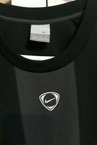 Men's Nike Crest Logo Athletic Shirt Black/Gray Size XL