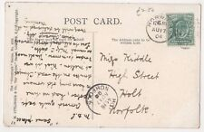 Norwich Duplex & Holt Postmarks on Old Baddow Mill Postcard, B595