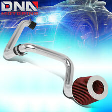 FOR 2001-2005 HONDA CIVIC 1.7L ALUMINUM COLD AIR INTAKE SYSTEM KIT W/RED FILTER