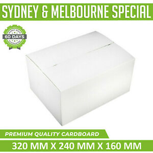 45X Mailing Box Regular Slotted 320 x 240 x 160mm Cardboard Carton White