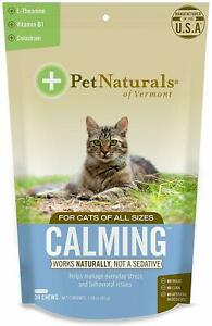 Calming Chews for Cats by Pet Naturals of Vermont, 30 chews 2 pack