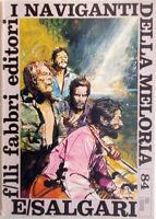 ✅Fabbri Editori Tigri e Corsari Emilio Salgari I NAVIGANTI DELLA MELORIA 1970 84