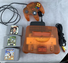 NINTENDO 64 N64 FIRE ORANGE CONSOLE w/ 1 Controller 8 Games - W/ Expansion Pack