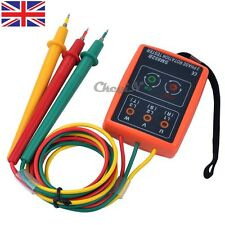 Medidor De Secuencia De Fase LED indicador de rotación de 3 fases Verificador Probador con zumbador