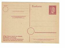 Germany 6pf, Hitler Postal Card, Unused - Lot 100817