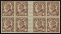 US Stamps - Scott # 631 - Imperf Gutter Block of 8 - Mint Never Hinged   (D-139)