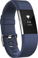 Fitbit Charge 2 Activity Tracker + Heart Rate (Large) - Blue - Used - In Box