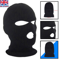 BLACK KNITTED BALACLAVA MASK 3 HOLES WINTER SAS ARMY SKI HAT NECK PAINTBALL Gift