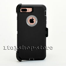 Rugged Case w/Clip for iPhone 7 & iPhone 7 Plus (Holster Fits Otterbox Defender)