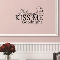 Home Decor Decals Wall Stickers Diy Couples Usual Fashion Alwayskissme Quote HS3