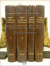 F. Enriques, MATEMATICHE ELEMENTARI + GEOMETRIA DESCRITTIVA PROIETTIVA 4 volumi