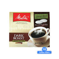 Melitta 75449 Soft Coffee Pods-Dark Roast (Single Pack) Soft Coffee Pods Dark
