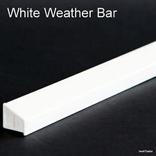 Blanc Météo Pluie Déflecteur goutte à goutte Bar PVC porte fenêtre en Bois Garde Weatherbar PVC