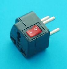 Universal USA UK AUS EU to Israel Round Pin Travel Adapter AC Power Plug Switch