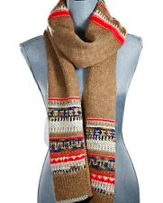 JUICY COUTURE PALE LINEN YARN WOOL SCARF $148