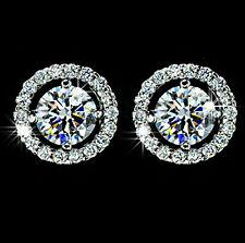 1.5 Ct Diamond Hearts & Arrows Cut Real 925 Sterling Silver Stud Earring