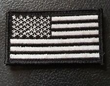 9649600cb974 AMERICAN FLAG TACTICAL MORALE USA SWAT SILVER VELCRO® BRAND FASTENER PATCH