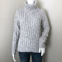 Banana Republic Women's Sweater Size S Gray Cowl Neck Italian Yarn Wool Alpaca