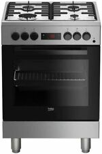 Beko FSE62110DXF Cucina a Gas 60x60 cm Silver con Forno Elettrico Multifunzione