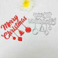 Merry Christmas DIY Cutting Die Stencil Scrapbooking Album Stamp Card Embossing