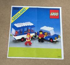 Lego de recette town classic - 6694 Voiture avec caravane ungelocht instructions