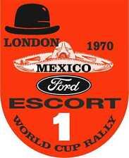 RACING Decalcomanie Nostalgico London 1970 Messico Rally Motorsport Adesivi x 2